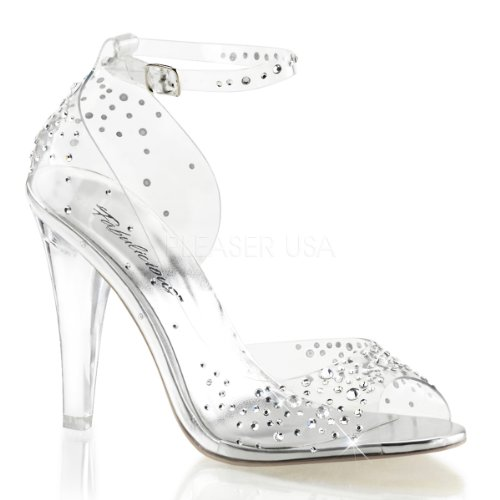 Fabulicious Women's CLE430RS/C Dress Sandal, Clear Lucite, 7 M US]()