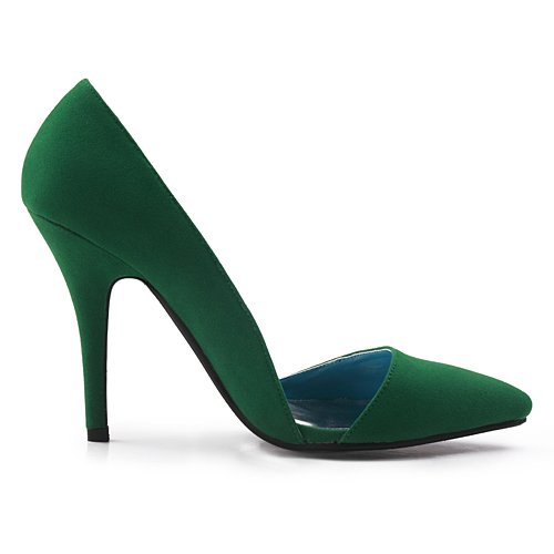 Womens Sexy Bridal Suede Green Pumps TDA TH12091 Poited Dress Parting Wedding Toe Orsay D Evening 1FwTX5qT
