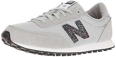 New Balance Women's 410 Lifestyle Fashion Sneaker, Silver Mink/Black, 5.5 B US