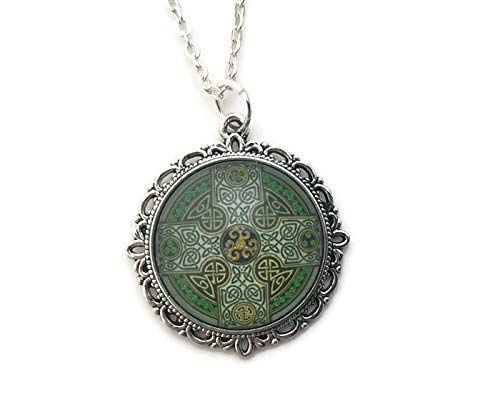Celtic Cross Necklace for Women - Celtic Knot Design - Handmade