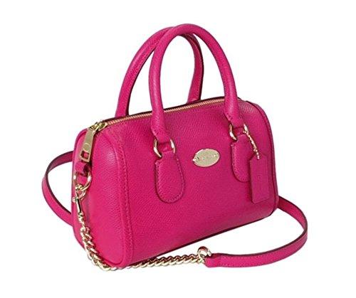Coach Crossgrain Leather Baby Bennett Satchel In Pink Ruby 34641