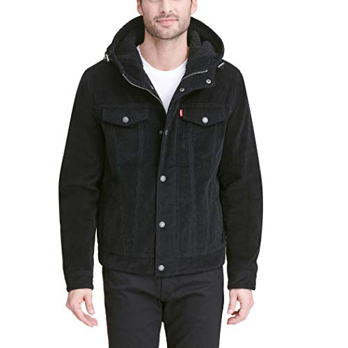 Levi's Men's Corduroy Sherpa Hooded Trucker Jacket