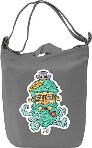 Green beard hipster Borsa Giornaliera Canvas Canvas Day Bag| 100% Premium Cotton Canvas| DTG Printing|