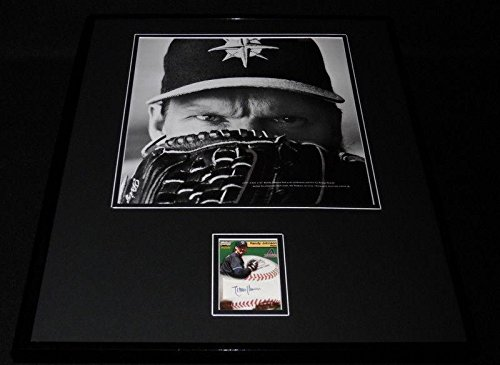Signed Randy Johnson Photo - Framed 16x20 Display PACIFIC Mariners - Autographed MLB (Randy Johnson Autograph Framed Photo)
