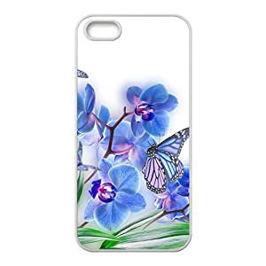 Butterfly And Flower Hight Quality Plastic Case for Iphone 5s