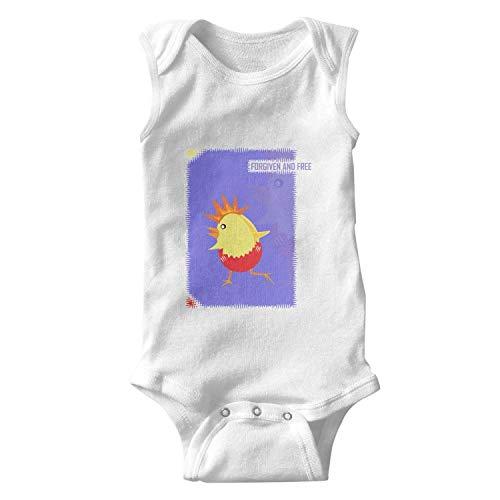 (Pick up Easter Egg Chicks Forgiven&Free Baby Onesie Sleeveless Organic Cotton Bodysuit Funny for Kids Boys)
