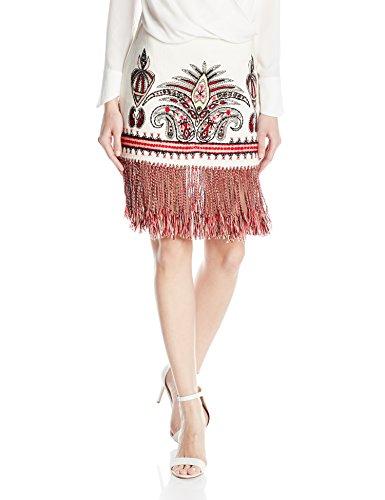 Fully Lined Linen Skirt (Rachel Zoe Women's Teresa Skirt, Ecru, 6)