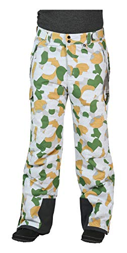 Arctix Men's Snow Sports Cargo Pants, Green GEO, Medium/Regular