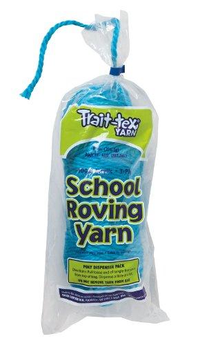 Trait-tex 3-Ply School Roving Yarn Skein, Lite Blue, 150 (Pacon Acrylic Roving Yarn)