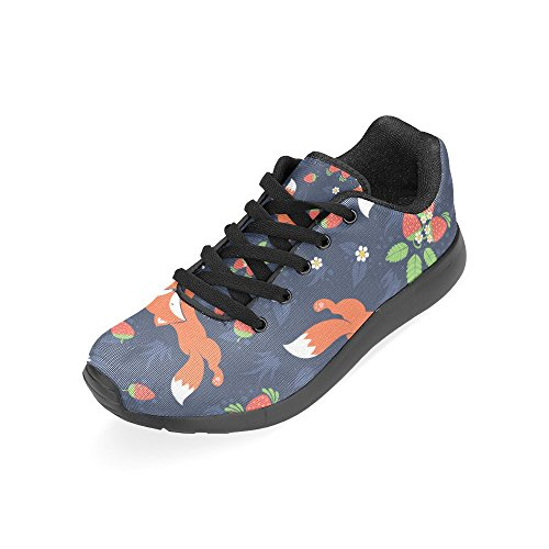 InterestPrint Womens Road Running Shoes Jogging Lightweight Sports Walking Athletic Sneakers Fox and Strawberry wlzBlNc