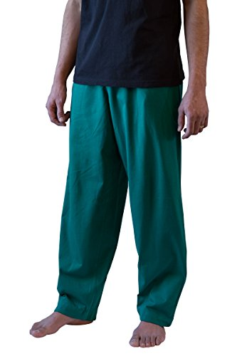 100% Egyptian Cotton Lounge Pants (For Both Men And Women) - Ocean (Heavyweight Knit Pants)