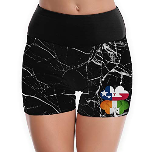(YJK79R Irish Texas Flag Irish Texas Flag Women's Yoga Shorts High Waist Sports Yoga Sleep Pants Pilates Leggings Yoga Leggings Perfect for Exercise Jogging )