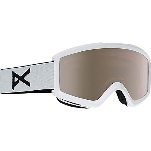 - Anon Helix 2.0 Snow Goggles White With Silver Amber & Amber Lens