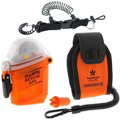(Nautilus LifeLine Marine GPS and Neoprene Pouch w/ free Coil Lanyard)