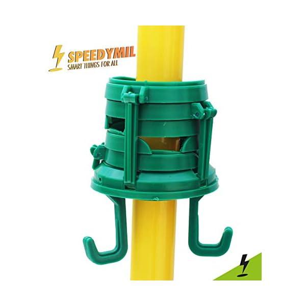 Speedymil Porta Bicchieri e Porta Borse per ombrelloni (Verde) 4 spesavip