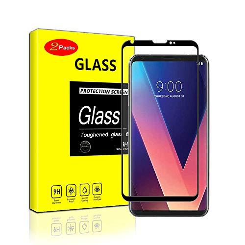 ペチュランス悪性腫瘍ふざけた【2枚セット】LG V30 Plus フィルム isai V30 Plus LGV35/V30 Plus L-01K/JOJO L-02K/LG V30 Plus L-02K V30 ガラスフィルム 全面保護 3D熱彎技術 9H硬度 強化ガラスフィルム(黒い)