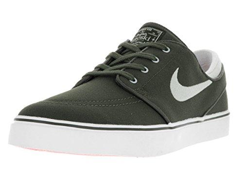 Wht Shoe Skateboard - Nike Men's Zoom Stefan Janoski CNVS Skate Shoe CRG Khk/Lght Bn/SMMT Wht/Mtllc 9 D(M) US