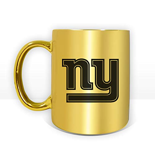 - New York Giants NYG Football Special Edition 11oz Coffee Mug Silver or Gold (Gold)