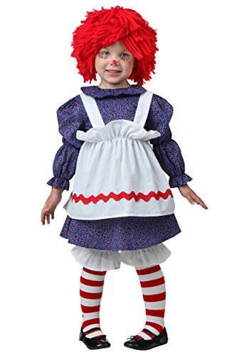 Fun Costumes Cute Rag Doll Little Girl's Costume - 2T