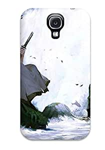 Shock-dirt Proof Samurai With Katana Anime Other Case Cover For Galaxy S4