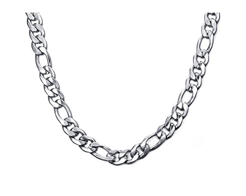 Steel Figaro Chain Necklace,10mm Width,24