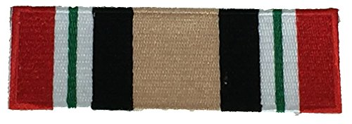 Iraqi Freedom Ribbon - OPERATION IRAQI FREEDOM CAMPAIGN RIBBON PATCH - Multi-Color - Veteran Owned Business