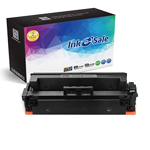 INK E-SALE Compatible Toner Cartridge Replacement for HP 410X CF410X (Black, 1-Pack), for use with HP Color Laserjet Pro MFP M477fdn M477fdw M477fnw,Pro M452dn M452nw M452dw M377dw Printers