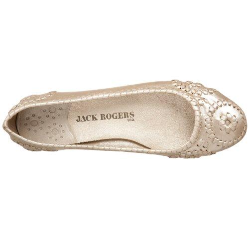 Jack Rogers Womens Rogers Slim Platino Piatto