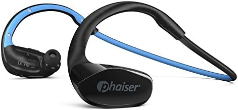 Phaiser FlexCore Gen-5 Bluetooth Headphones, Wireless Earbuds Stereo Earphones for Running with Mic and Lifetime Sweatproof Guarantee, Oceanblue
