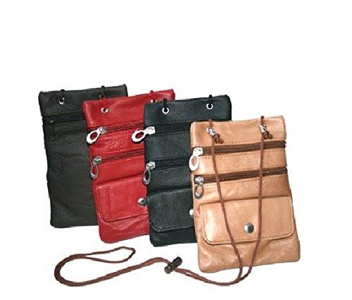 Soft Leather Neck ID/Passport Wallet/Holder . Black
