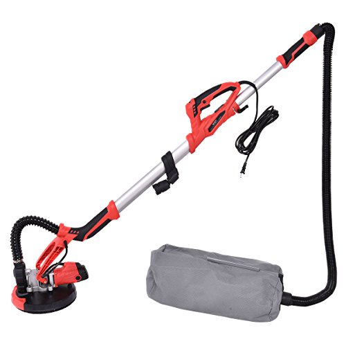 800W Electric Drywall Sander Adjustable Variable Speed Sanding Portable Handle Grip with Vacuum and LED Light Heavy duty Sturdy & Durable