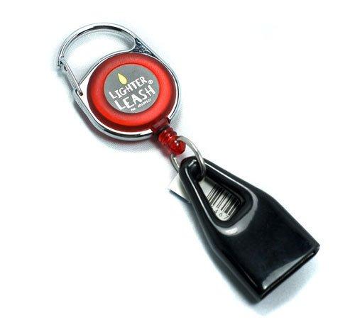 Premium Lighter Leash Retractable Keychain Clip (Red)