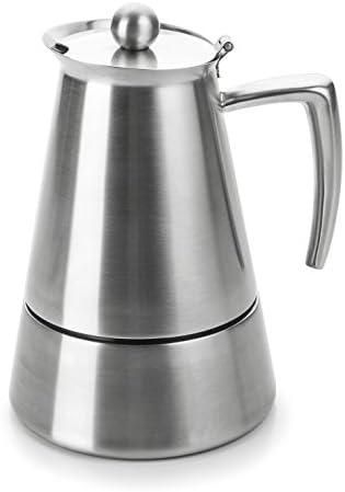 Lacor Hyperluxe Cafetera 6 Tazas, Plata: Amazon.es: Hogar