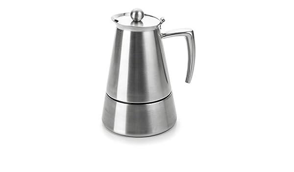 Lacor Hyperluxe Cafetera 10 Tazas, Plata: Amazon.es: Hogar