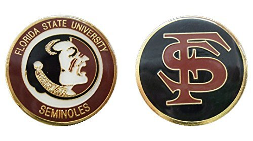 Collectible Challenge Coin- Logo Poker - Lucky Chip for Florida State University
