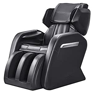 OOTORI Full Body Electric Massage Chair, Zero Gravity Neck, Back, Legs, and Foot Shiatsu Massager with Heat and Foot Rollers (Black)