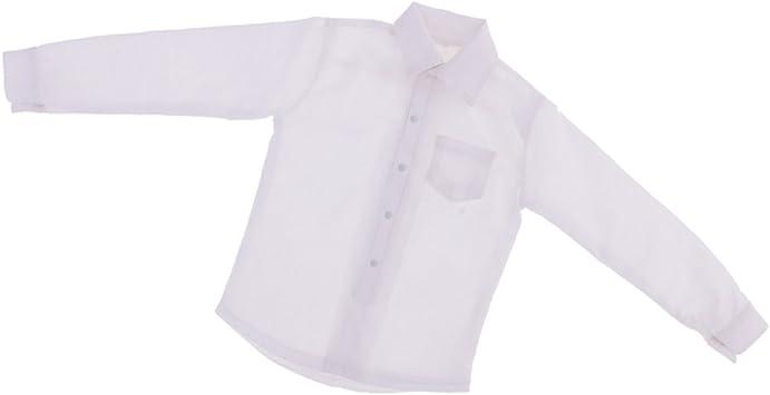 Amazon.es: lahomia Traje de Camisa Blanca de Manga Larga 1/6 ...