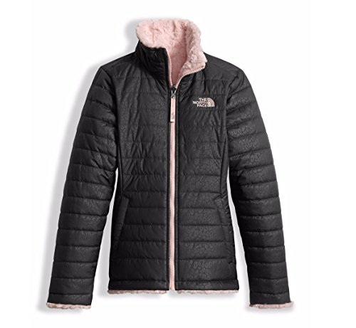 The North Face Girl's Reversible Mossbud Swirl Jacket - Graphite Grey - M (Past (Reversible Girls Jacket)
