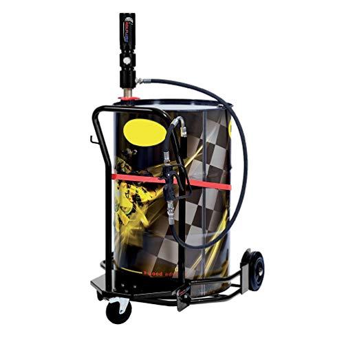 Oil Drum Set - Wolflube Wheeled Oil Set - for 55 GAL Drums - 1:1-30ft Hose Reel