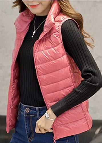 Colore Cappotto Tasca Donna Packable Da Il Con Cappuccio Rosa Esterno Sicurezza Palla Di Pesce Leggero Con Giacca Giubbotto vTZYq