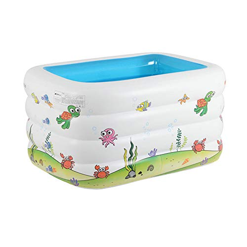 Inflatable Baby Bath Tub,Toddler Kid Swimming Pool,Blue Pool Bathtub, Foldable Rectangular, Shower Pool Swim Center for Home and Travel