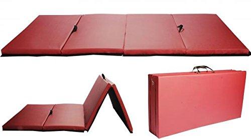 BestMassage Gymnastics Mat Gym Mat Tumbling Mat 4 Foldding Gymnastic Tumbling Mat 4'x8'x2 Thick Exercise Mat Home Gym Yoga Mat