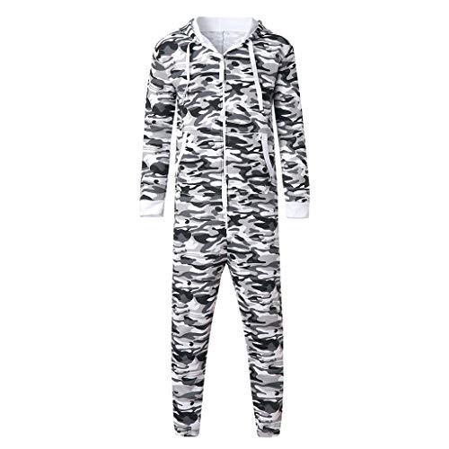 Emerayo Unisex Men Pocket Full Zip Jumpsuit Romper