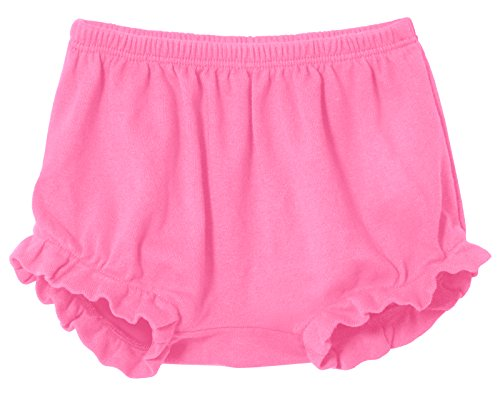 Ruffled Bubble (City Threads Baby Girls' and Boys' Ruffled Diaper Covers Bloomers Soft Cotton Fashionable Cute, Bubblegum, 12-18Months)