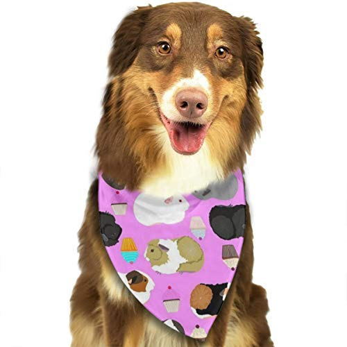 NOWDIDA Guinea Pigs and Cupcakes Dog Bandana - Small Medium and Large Bandanas for Every Occasion Or Holiday - Easy to Tie On Your Cats Or Dogs Or Puppy - Comfortable and Stylish Pet Accessories -
