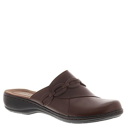 Clarks Women's Leisa Marie Clog,Brown Leather,US 7 M