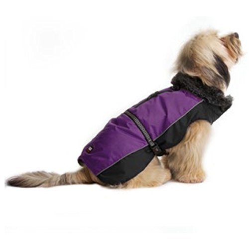 Dog Gone Smart Aspen Parka Dog Jacket (12in) (Purple/Black)