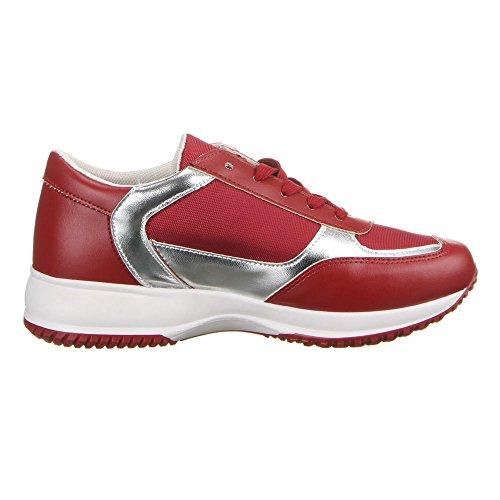 Ital-Design - zapatilla baja Mujer Rojo - rojo