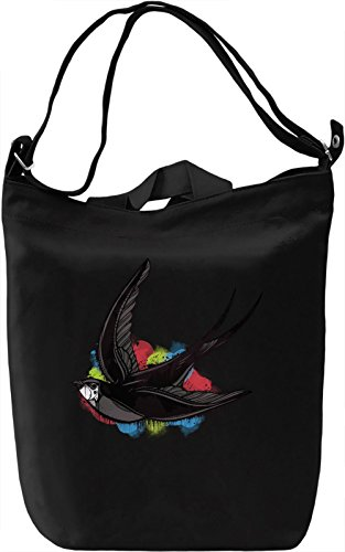 Graphic Swallow Borsa Giornaliera Canvas Canvas Day Bag| 100% Premium Cotton Canvas| DTG Printing|