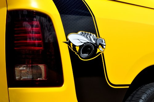 - Dodge Ram 1500 Rumble Bee Concept (2013) Truck Art Poster Print on 10 mil Archival Satin Paper Yellow Rear Side 1/4 Panel Closeup View 36